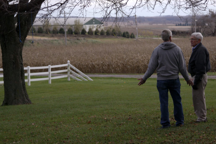 Iowa County resident Gary Nester explains how a hog operation was built 750 feet from his home without the need for a permit.