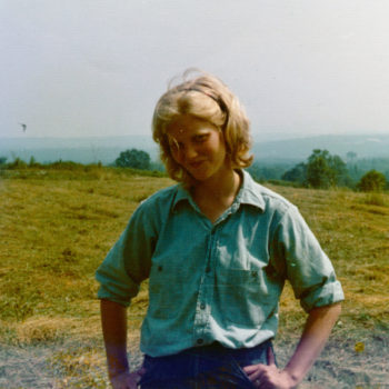 Chellie Pingree as a young farmer.