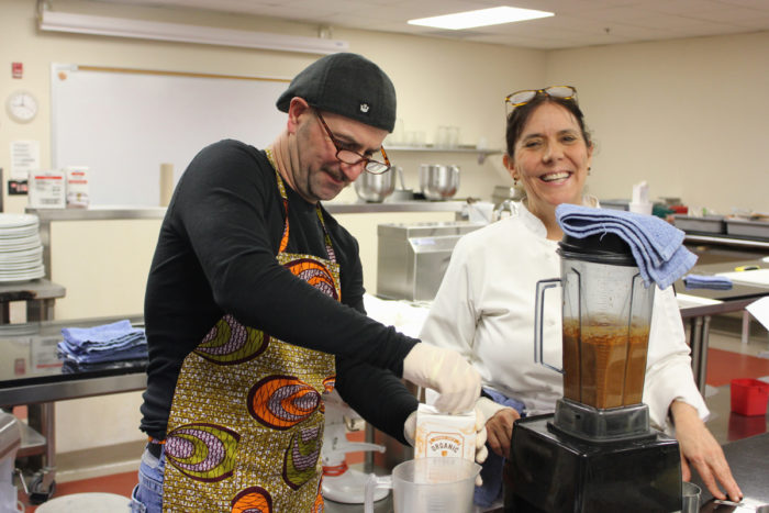 Chef Lois Ellen Frank teaching an indigenous foodways class
