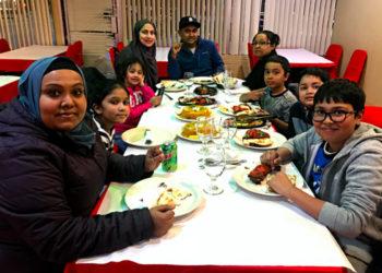 Shumon Hakim and family at Bismillah