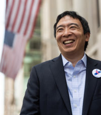 Andrew Yang photo courtesy of Yang for America.