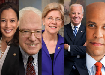 five of the frontrunners for the 2020 presidential campaign