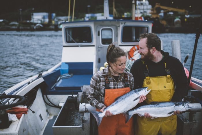 Nelly and Michael Hand of Drifters Fish. (Photo by Camrin Dengel)
