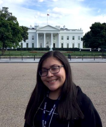 aglae mendez outside the white house