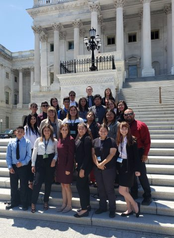 Aglaé Mendez's school trip to the U.S. Capitol. (Photo courtesy of the Yuma Union High School District)