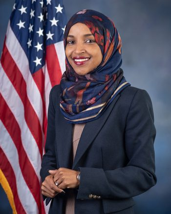 Rep. Ilhan Omar, official Congressional portrait (Photo credit: Kristie Boyd; U.S. House Office of Photography)