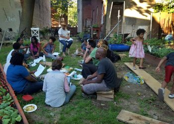 A gathering of urban farmers and gardeners in Philadelphia
