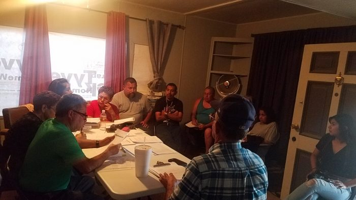 A community organizing meeting in Tooleville. (Photo courtesy of the Leadership Counsel)