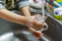 clean drinking water coming from the tap