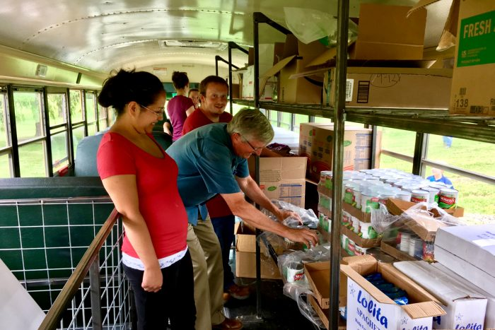 On the Summer Food Bus. (Photo credit: Federal Hocking Local Schools)