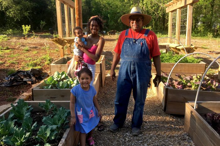 Community Garden Manager, Douglas Hardeman, welcomes visitors to the food forest. (Photo courtesy of AgLanta)
