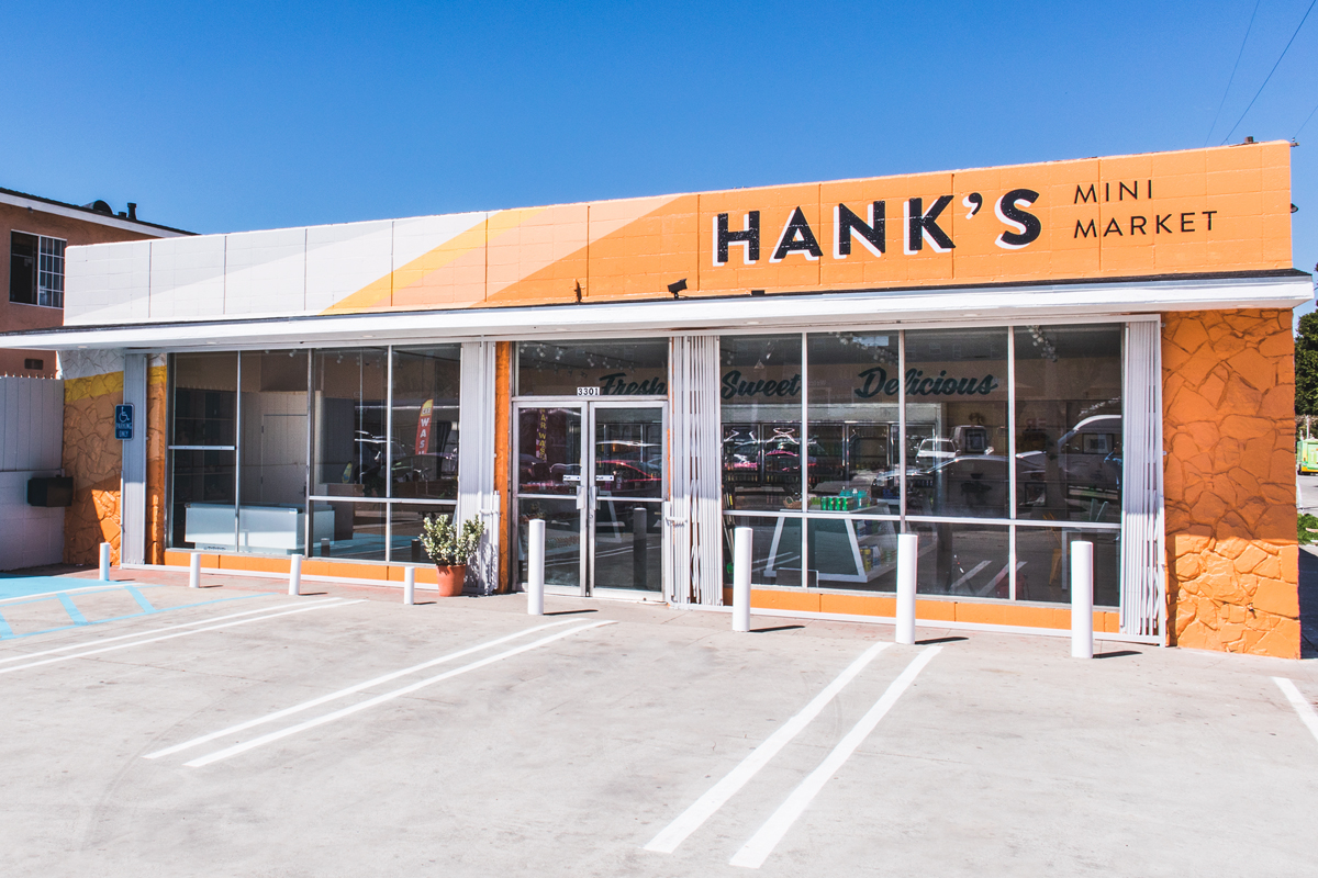 The remodeled exterior of Hank's Mini Market.