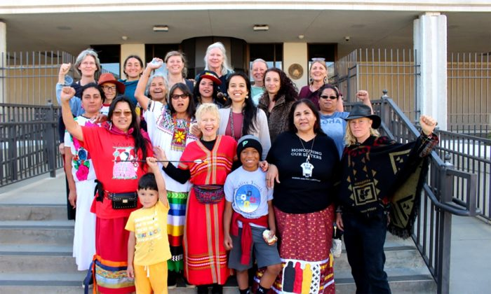 Sovereign Sisters drove to Rapid City, South Dakota during the gathering to join a protest and court hearing of the Riot Booster Act, a bill introduced by Governor Kristi Noem aimed at criminalizing pipeline protestors.