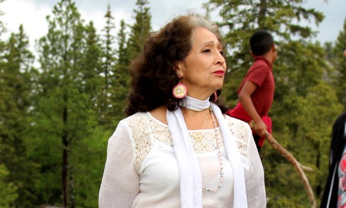 Lakota Elder LaDonna Brave Bull Allard joined a van full of fellow Sacred Stone Village residents who made the five-hour drive from Standing Rock to join the Sovereign Sisters Gathering.