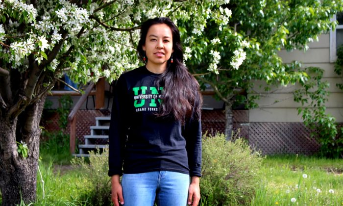 """Musician, public speaker, and scholar Lyla June on recovering traditional food systems: """"What we're finding… is that human beings are meant to be a keystone species… what [we're] trying to do is bring the human being back into the role of keystone species, where our presence on the land nourishes the land."""""""