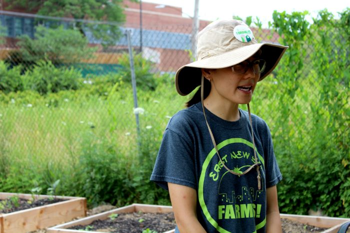 Anita Chan at East New York Farms. (Photo by Ada Cowan)