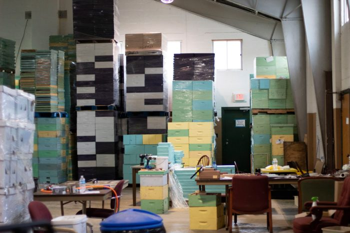 the storage office at the Appalachian Beekeepers Collective