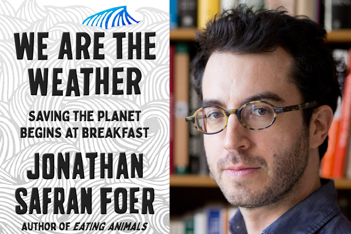 jonathan safran foer we are the weather book cover and author photo copyright Jeff Mermelstein