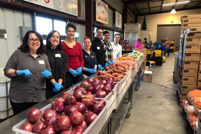 Staff at the Santa Cruz Food Bank warehouse. Photo courtesy of the Santa Cruz Food Bank.