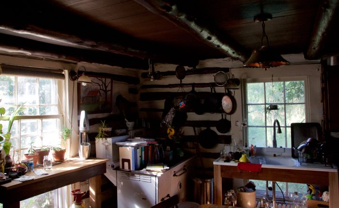 Inside the Kimmels' cabin.