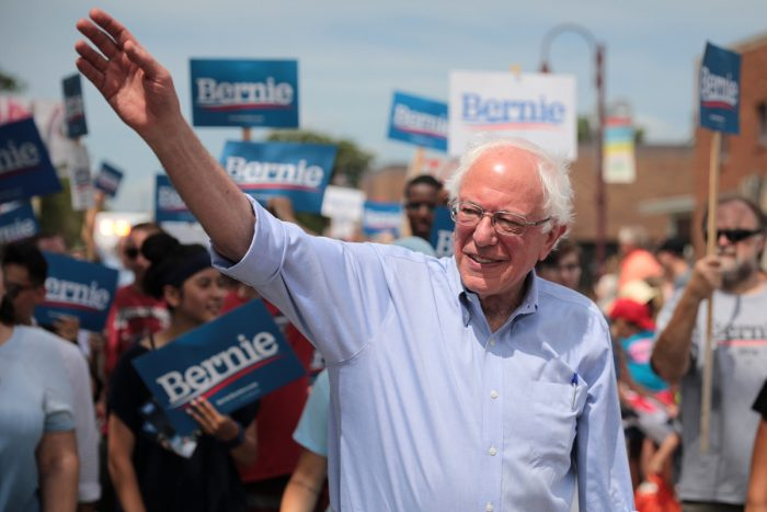 Bernie Sanders in Ames, Iowa, in July. (Photo CC-licensed by Gage Skidmore)