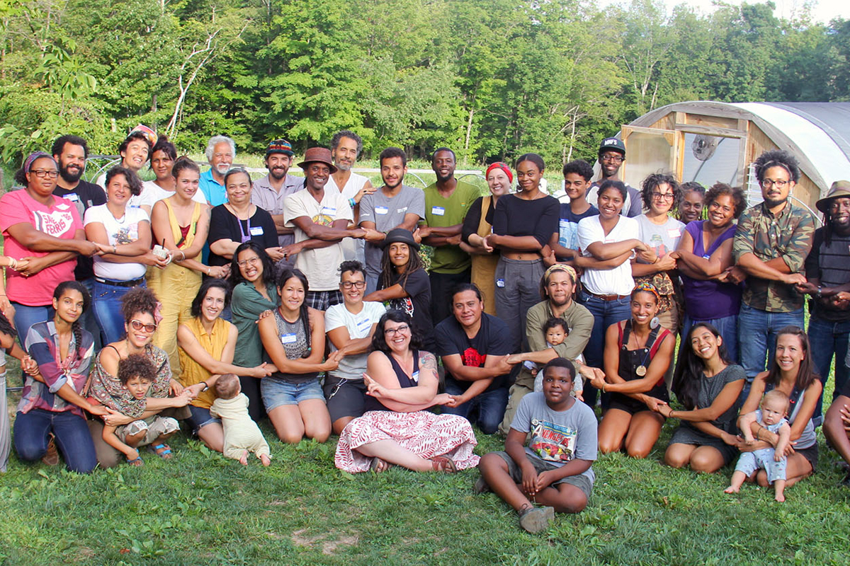 Members of the Northeast Farmers of Color Land Trust. (Photo by Matt Feinstein)