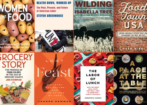 a montage of food and farming book covers