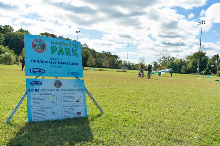 Magruder Park in Hyattsville, Md., is one of the newly organically maintained field. (Photo courtesy of Stonyfield)