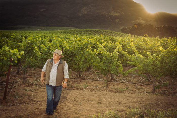 Rolando Herrera-in his vineyards. (Photo credit: Rocco Ceselin)