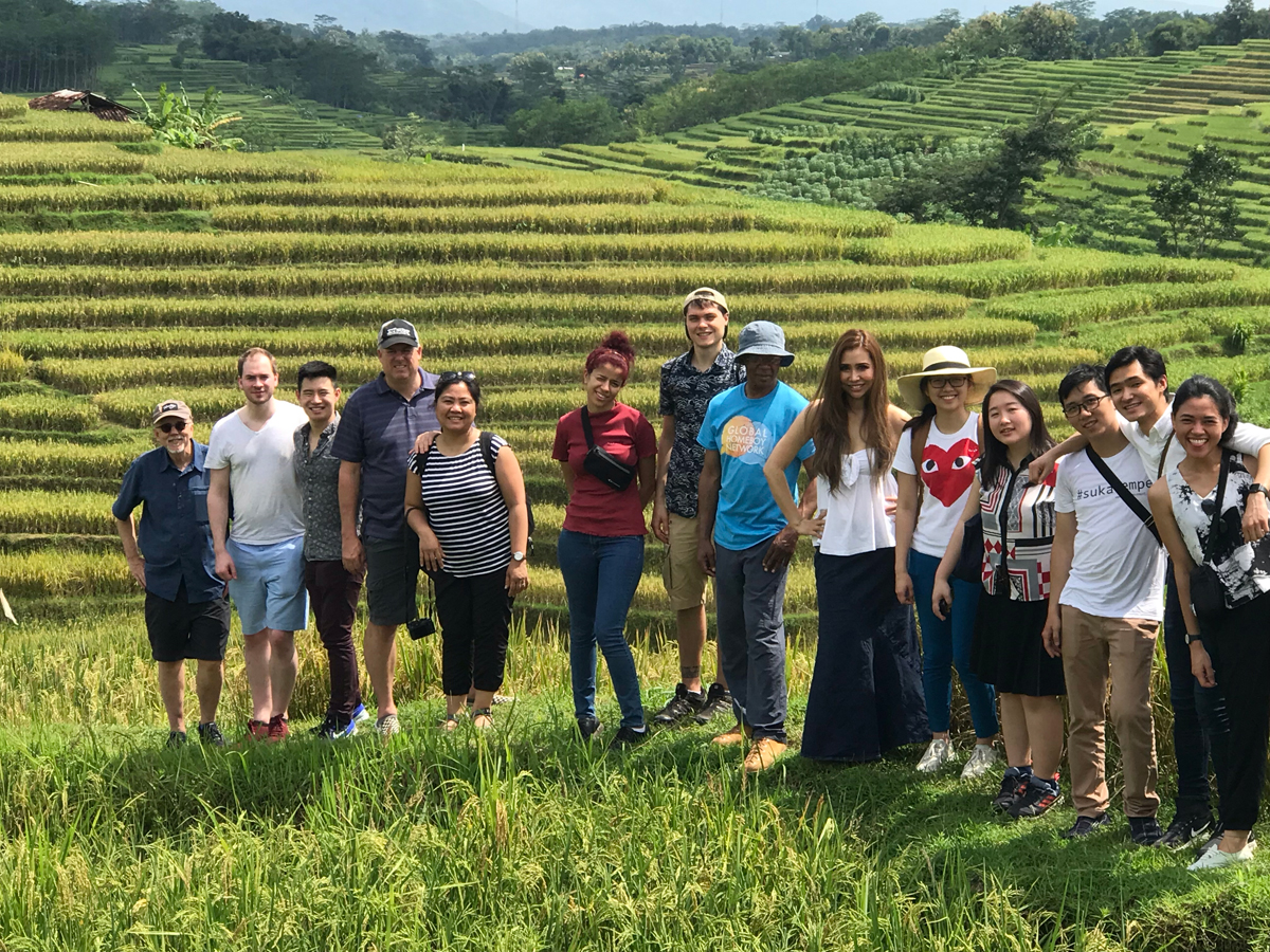 On the tempeh tour of Indonesia. (Photo courtesy of Better Nature Foods)