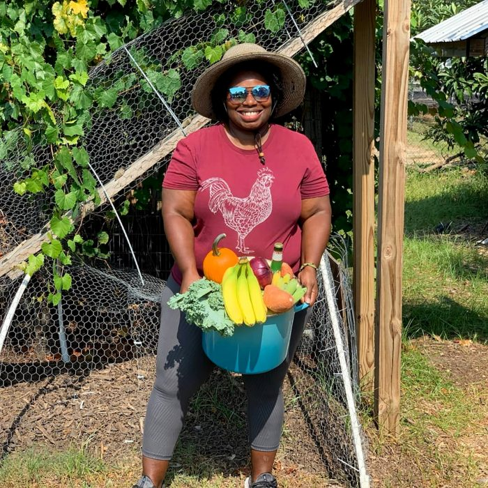 Germaine Jenkins with her harvest. (Photo from Germaine Jenkins.)