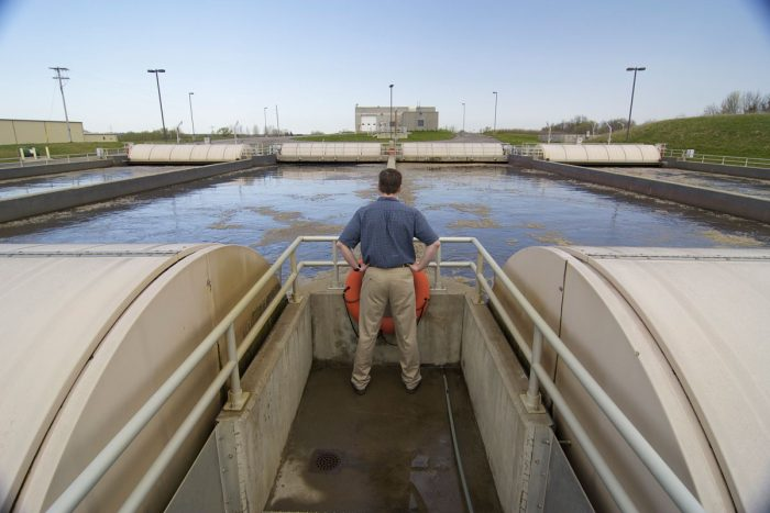 Overlooking a wastewater treatment facility. (Photo CC-licensed by the Minnesota Pollution Control Agency)
