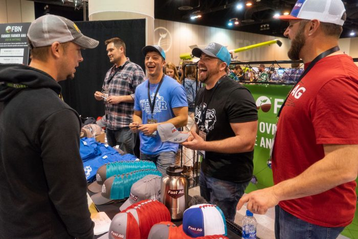 YouTube Farmers talk with fans and sell their merchandise. (Photo courtesy of YouTube)