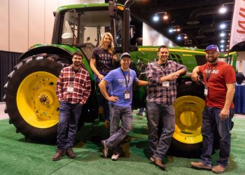 YouTube Farmers, from left: Zach Johnson, Meredith Barnard, Nick Welker, Ryan Kester, and Tony Fast. (Photo courtesy of YouTube)