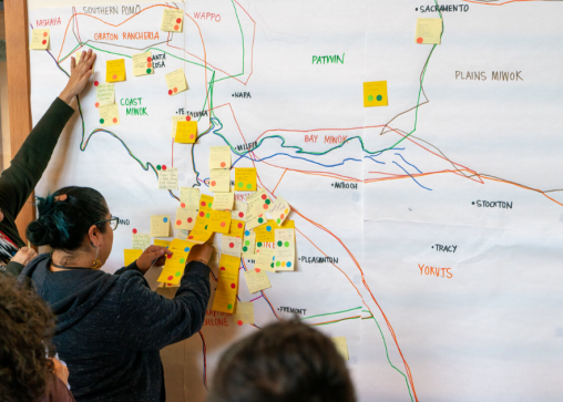 Indigenous women mapping land