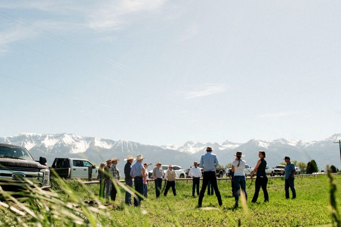 Ranchers gathering at Carman Ranch. (Photo © Talia Jean Galvin)
