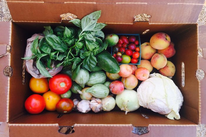 An Eatwell Farm CSA produce veggie box. (Photo courtesy of Eatwell Farm)