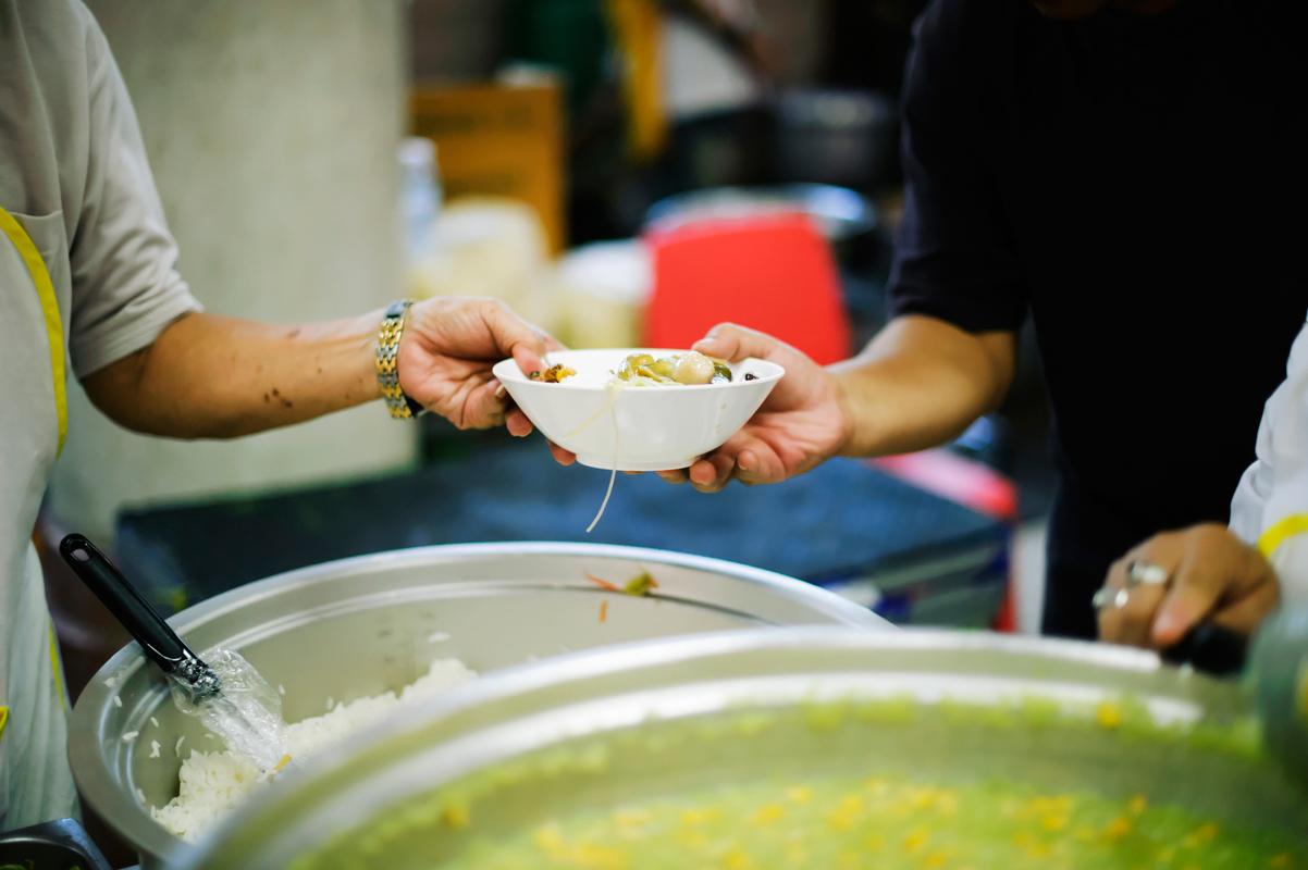 restaurant as community kitchen serving soup