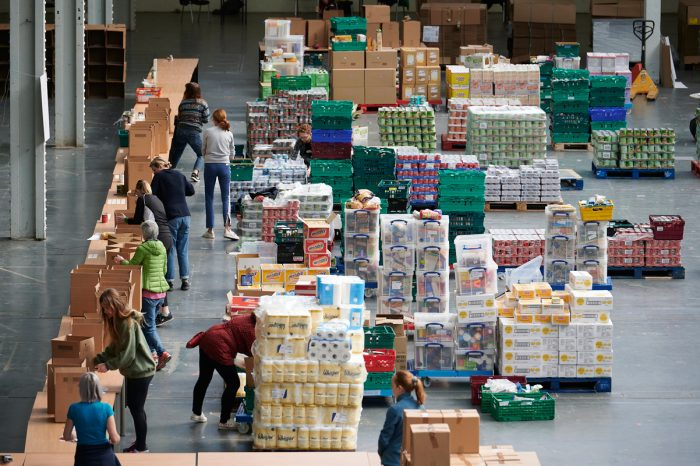 The food bank in Olympia, London. (Photo CC-licensed by the Hammersmith & Fulham Council)