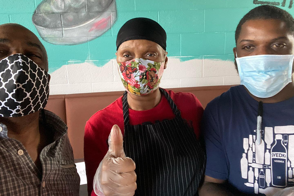 The chefs at Norma Gs in Detroit are ready to work during the pandemic. (Photo courtesy of Norma G's)