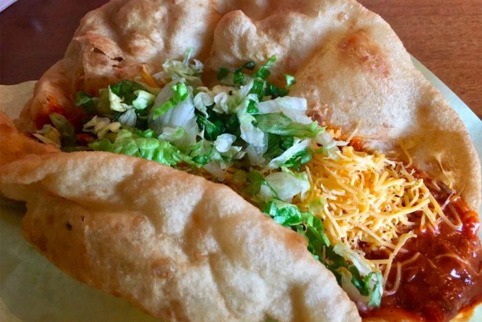 fry bread taco from fry bread house