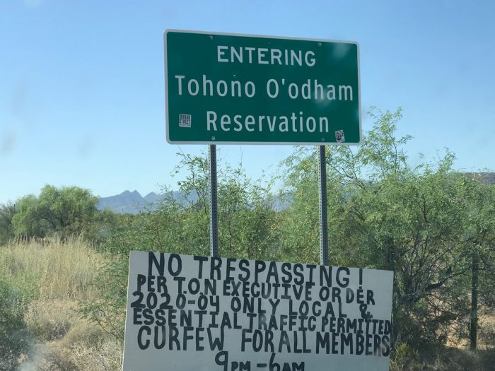 The Tohono O'odham Nation in central Arizona is trying to restrict traffic from construction workers and truckers that come into their stores, gas stations, and convenience stores on their way to and from border wall construction in southern Arizona. (Photo by Gary Nabhan)