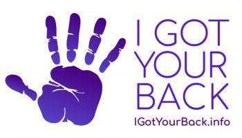 I got your back logo for restaurant mental health