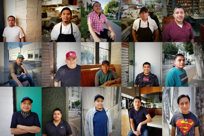 a collage of undocumented immigrants used in the LA Kitchen Migrants GoFundMe campaign