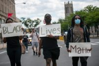 Protestors march in Philadelphia on June 1, in the aftermath of widespread unrest following the murder of George Floyd, Breonna Taylor, Ahmaud Arbery, and others.
