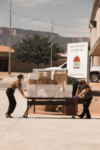 Delivering food to the Navajo Nation. (Photo © Nate Lemuel)