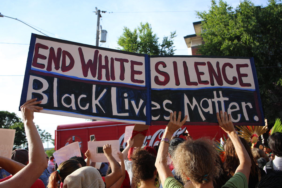 A Black Lives Matter protest in Minneapolis. Photo CC-licensed by Andy Witchger