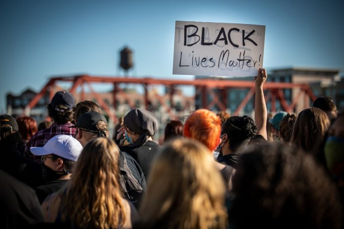 A Black Lives Matter protest in Des Moines, Iowa. (Photo CC-licensed by Phil Roeder)