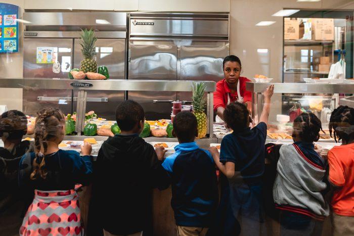 Serving schoolchildren in Jackson, Mississippi. (Photo courtesy of Fertile Ground)