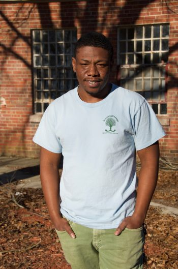 Terrence Smith was an original member of Growing Change, becoming involved in 2011 at the age of 14. He now serves as the organization's farm manager.